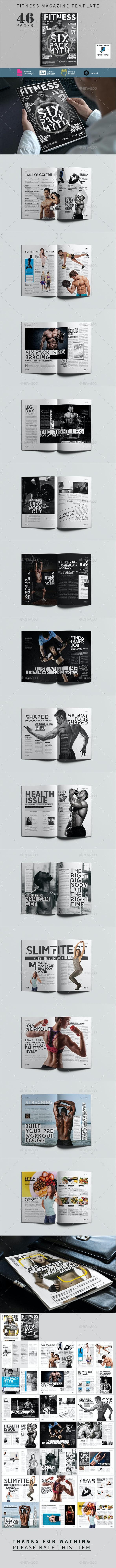 Fitness Magazine - Magazines Print Templates