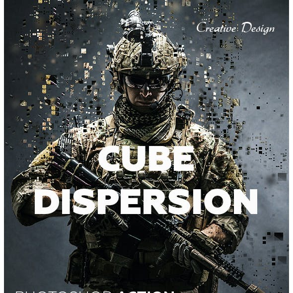 Cube Dispersion Photoshop Action