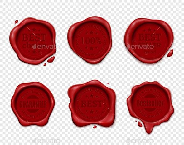 Wax Seal Transparent Set - Miscellaneous Vectors