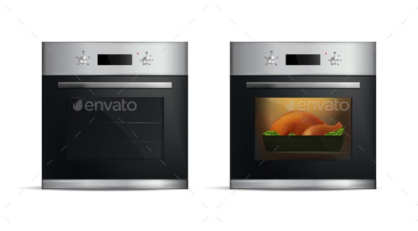 Realistic Ovens Set - Food Objects