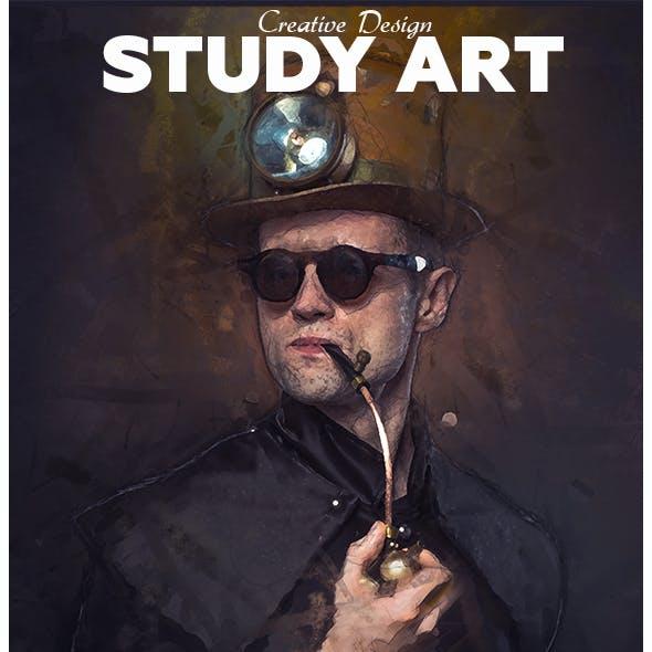 Study Art Photoshop Action
