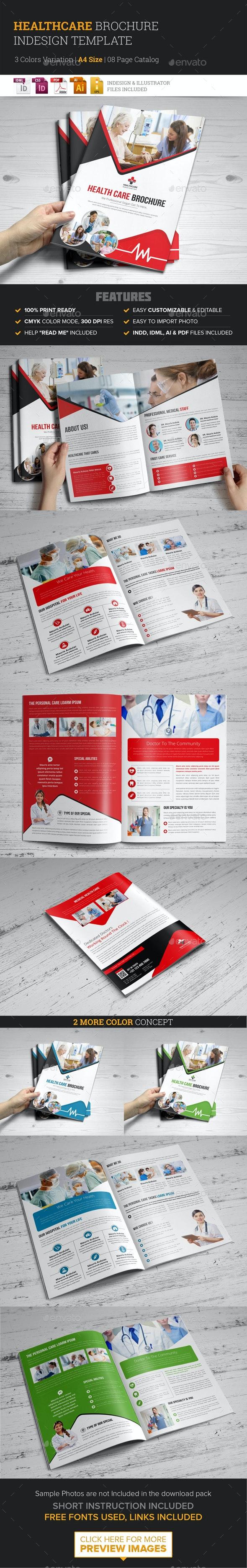 Medical Healthcare Brochure Indesign Template - Corporate Brochures