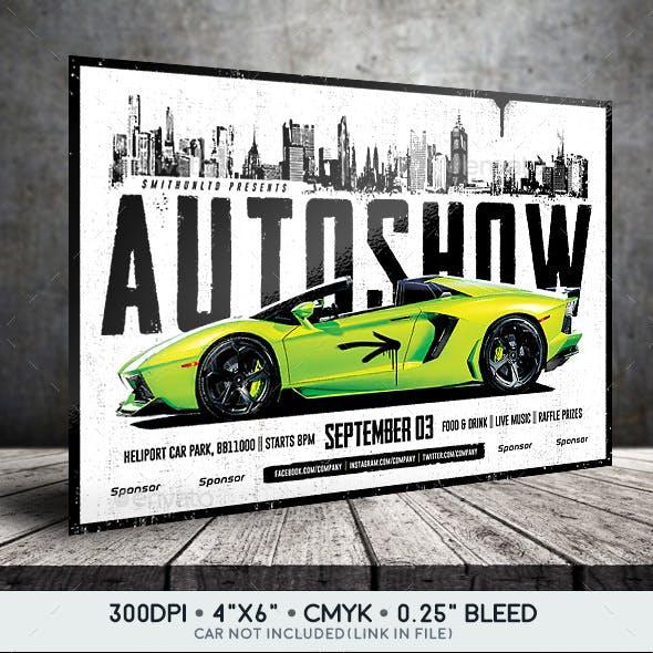 Auto Show Flyer - City - Horizontal