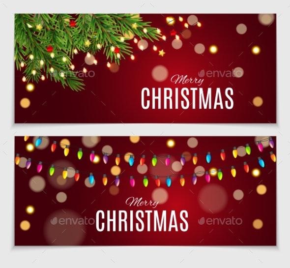 Abstract Beauty Christmas and New Year Card - Christmas Seasons/Holidays