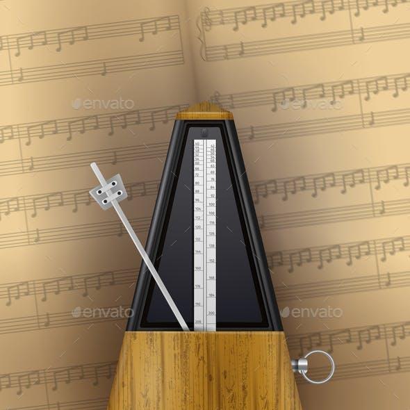 Vintage Swinging Metronome