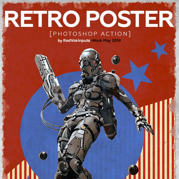 Retro Poster Photoshop Action