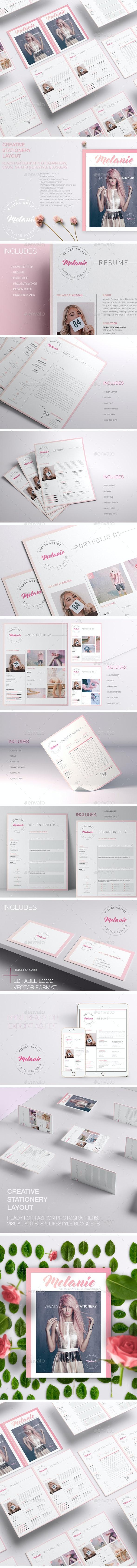 Melanie - Creative Stationery - Stationery Print Templates