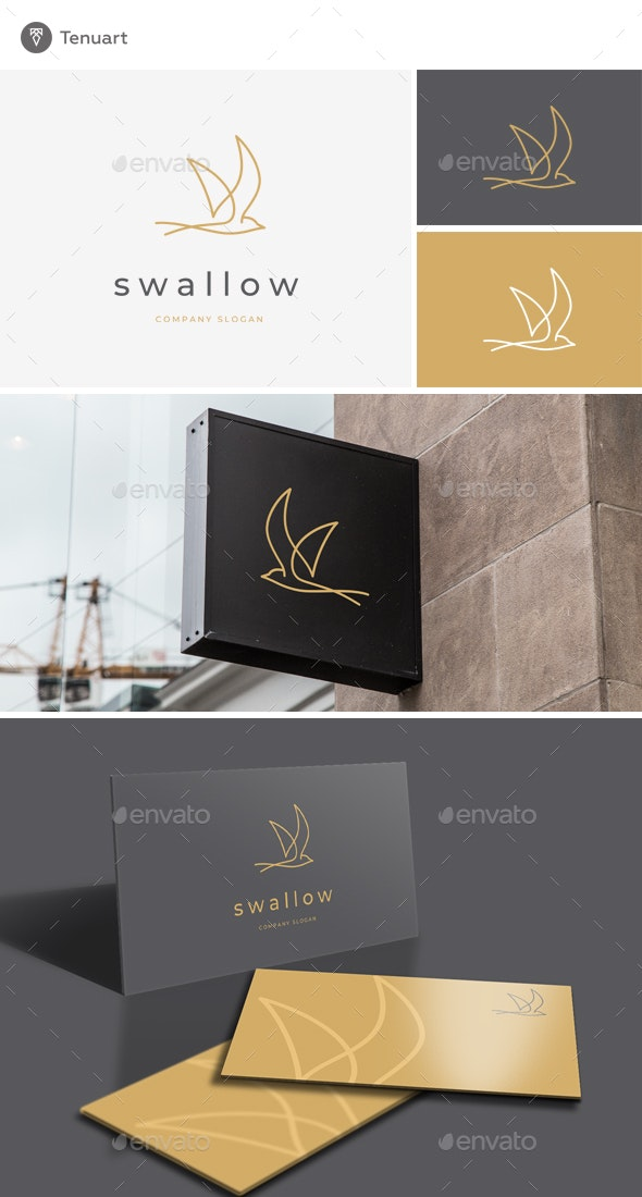 swallow logo by tenuart graphicriver https graphicriver net item swallow logo 22921320