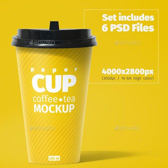Paper Cup 400ml Mockup
