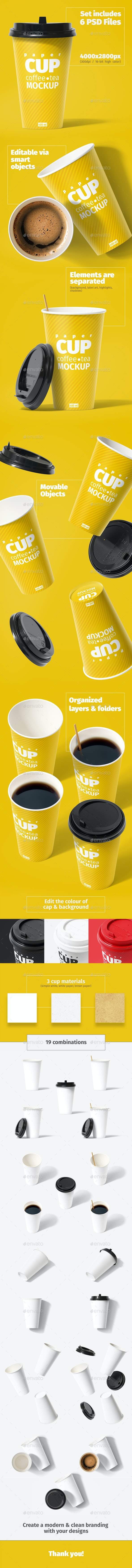 Paper Cup 400ml Mockup - Food and Drink Packaging