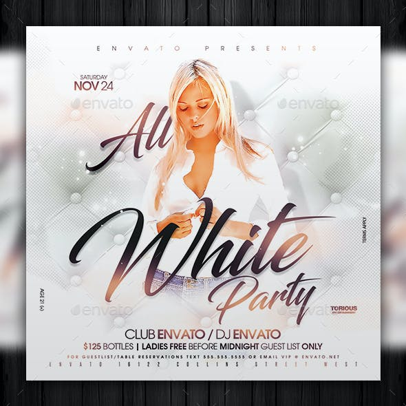 All White Party Flyer