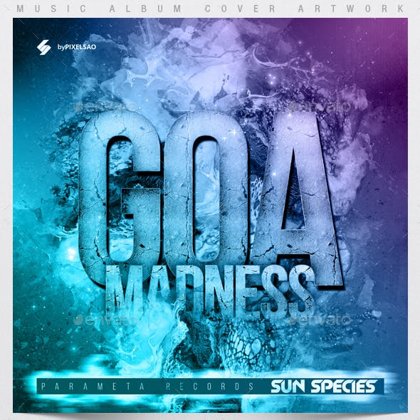 Goa Madness - Music Album Cover Artwork Template