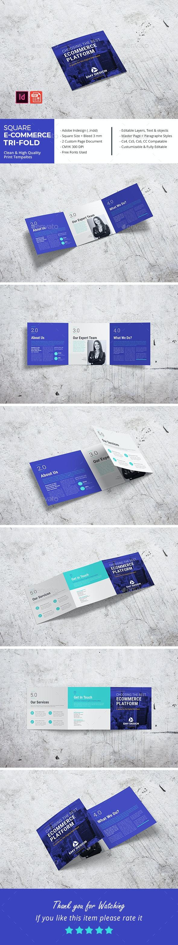 Square E-Commerce Business Tri-Fold - Corporate Brochures