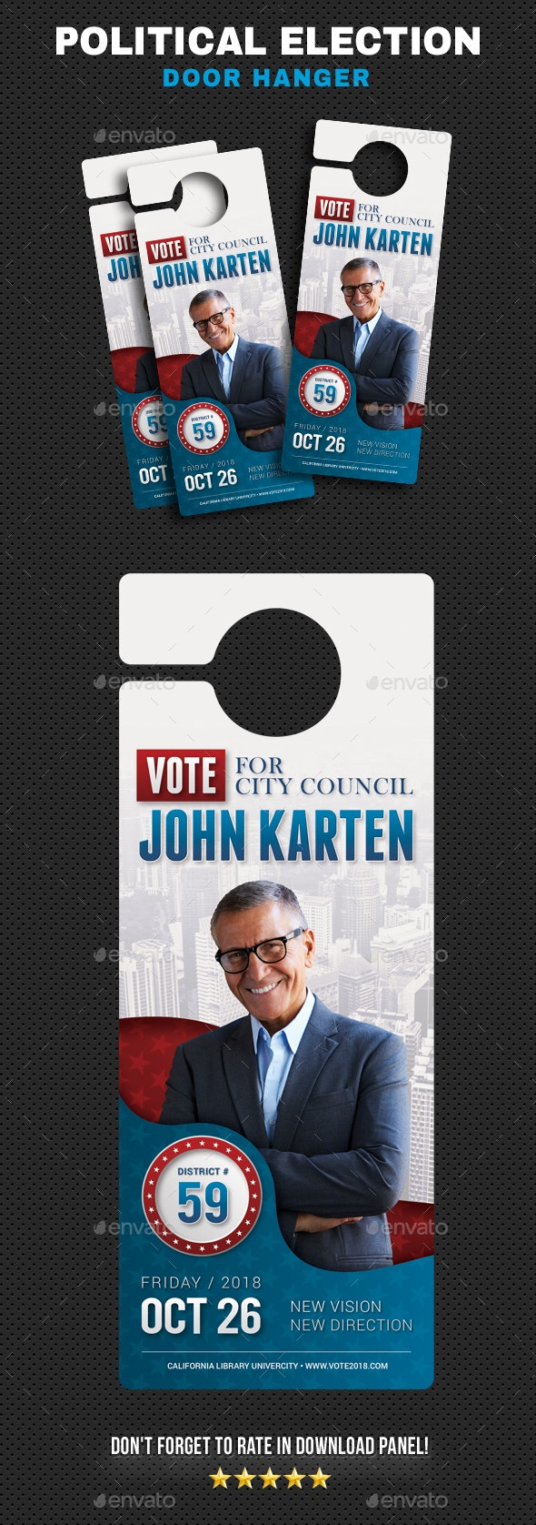 Political Election Hanger v2 - Miscellaneous Print Templates