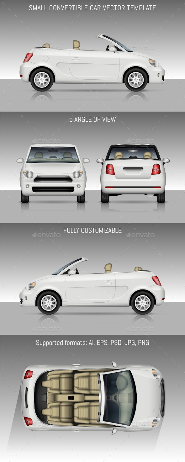 Small Convertible Car - Man-made Objects Objects