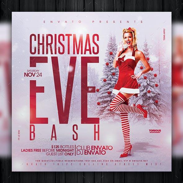 Christmas Eve Bash Flyer Template