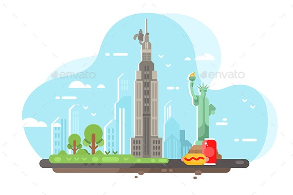 New York City Skyline - Miscellaneous Vectors