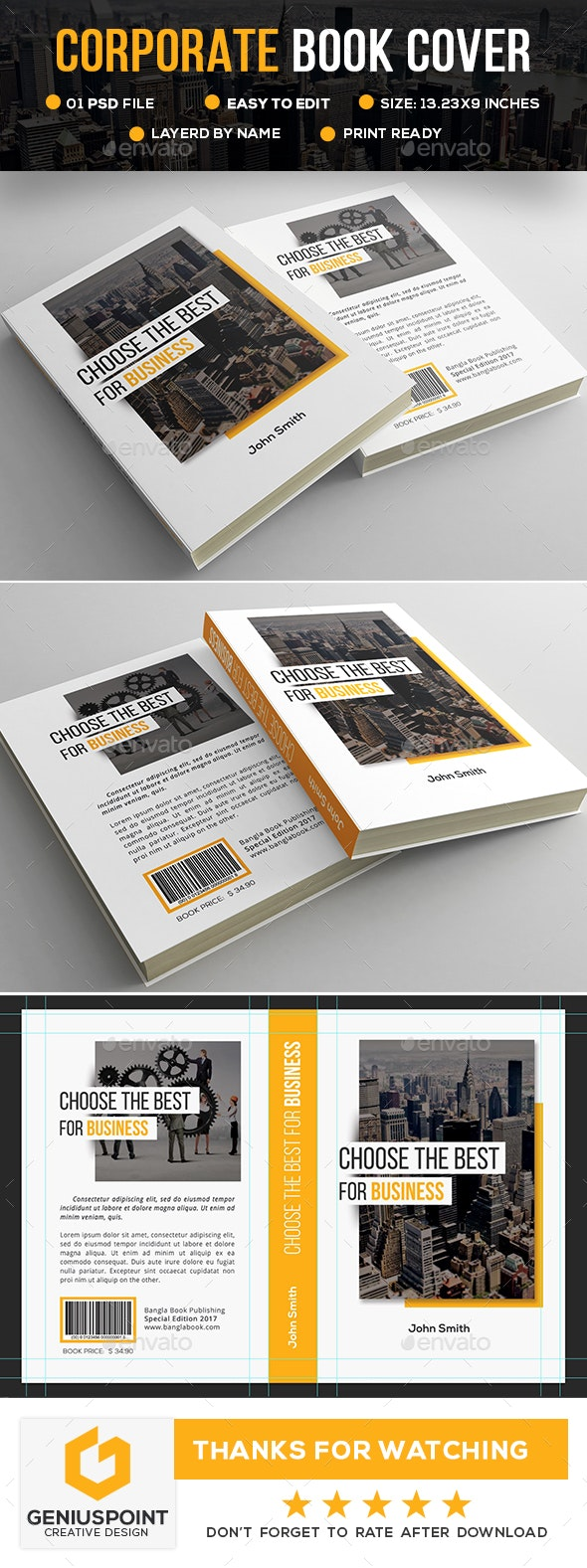 Corporate Book Cover - Miscellaneous Print Templates