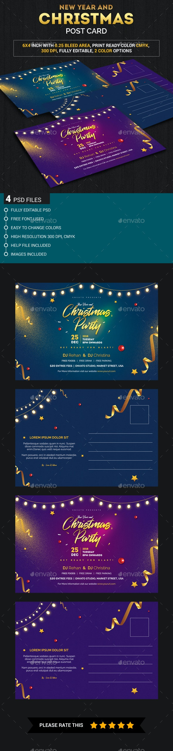 Christmas and New year Post Card - Loyalty Cards Cards & Invites