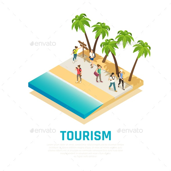Travel People Isometric Composition - People Characters
