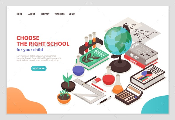 Teachers and School Page Design - Industries Business
