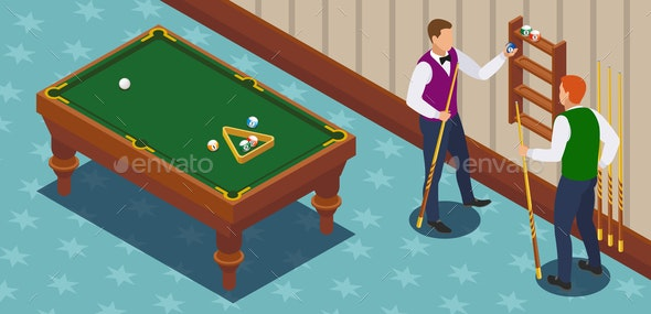Game of Billiards Compositions - Sports/Activity Conceptual