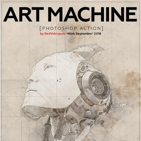 Art Machine Photoshop Action