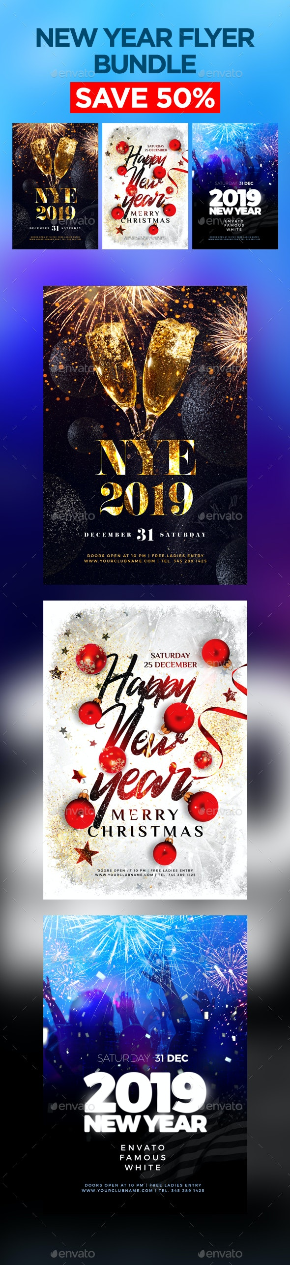 New Year Flyer Bundle - Events Flyers