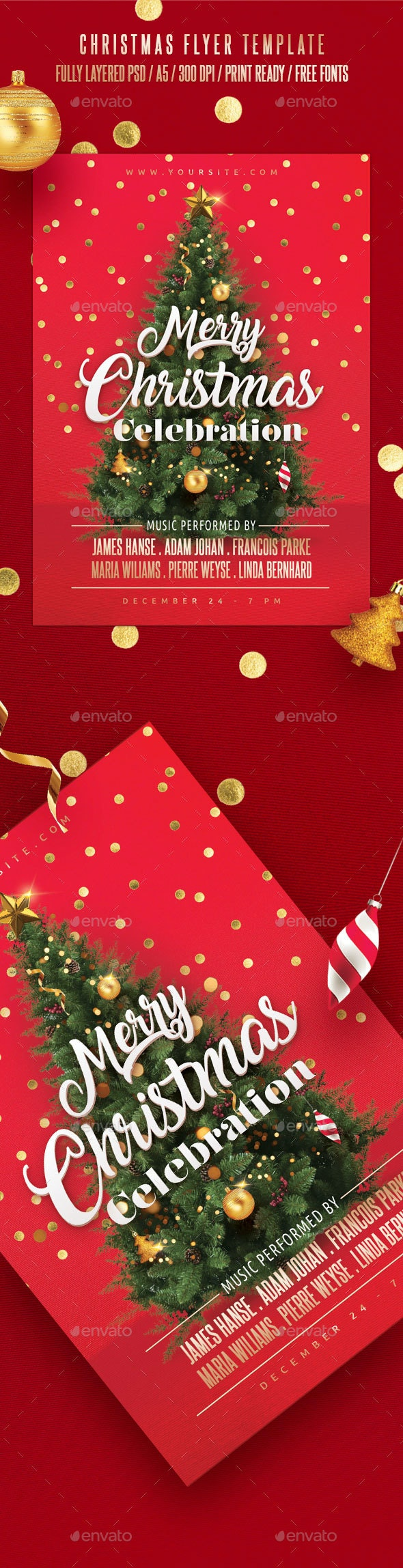 Christmas Flyer Template - Holidays Events