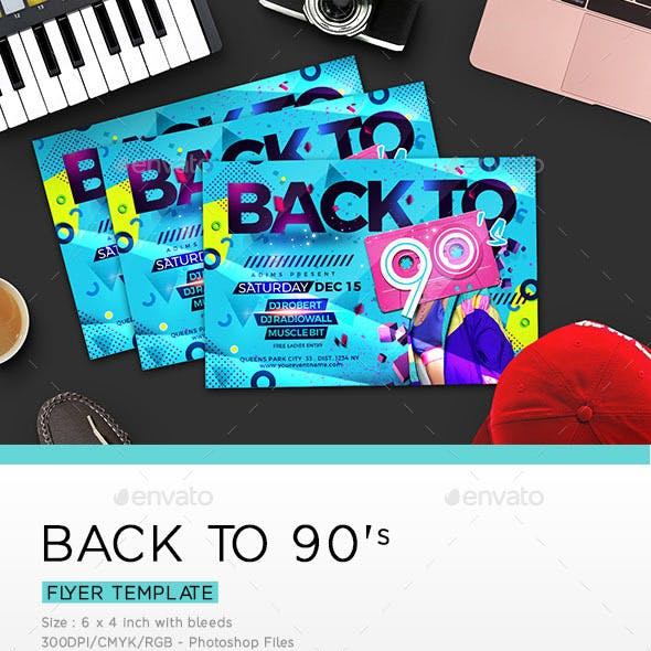 BACK TO 90's Flyer
