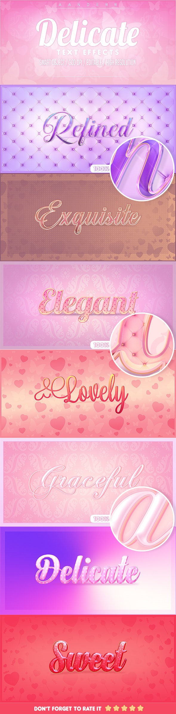 Delicate Photoshop Text Effects - Text Effects Actions
