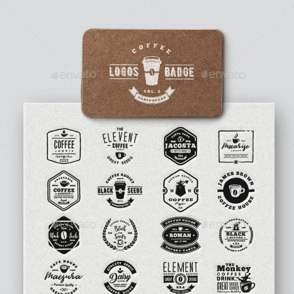 Coffee Logo & Badge Vol. 2