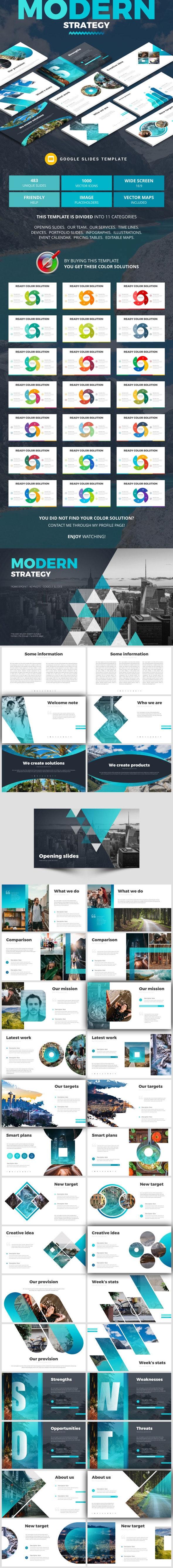 Modern Strategy - Google Slides Presentation Templates