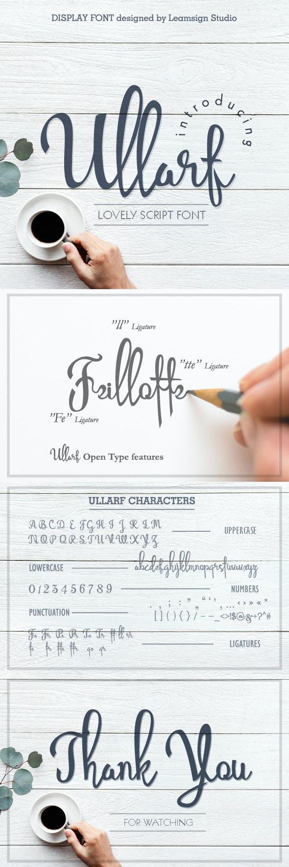 Ullarf Font - Hand-writing Script