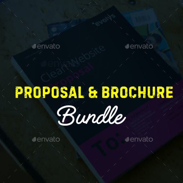 Brochure and Annual Report Indesign Bundle