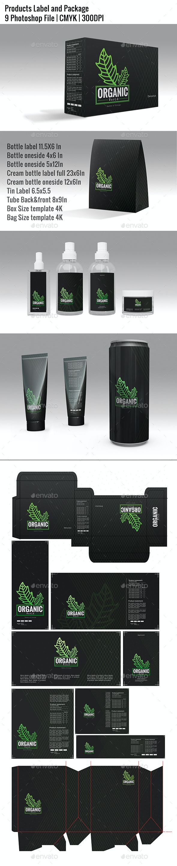 Products Label and Package - Packaging Print Templates