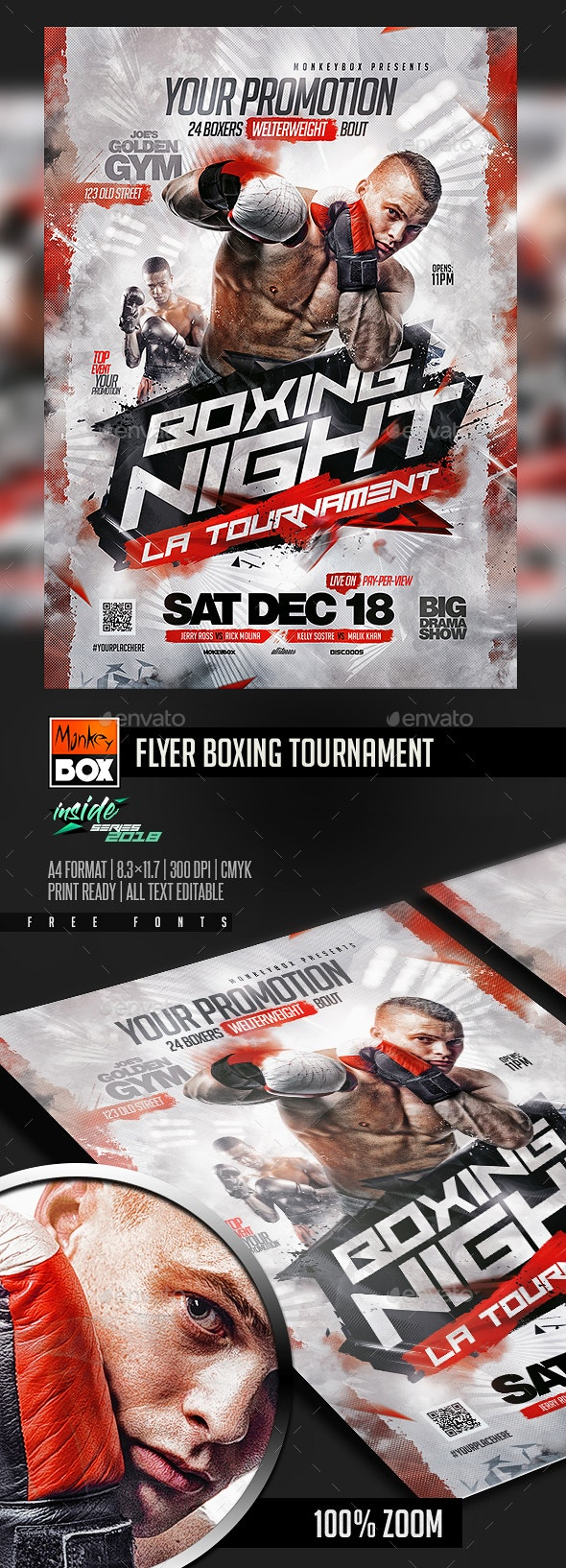 Flyer Boxing Tournament - Sports Events