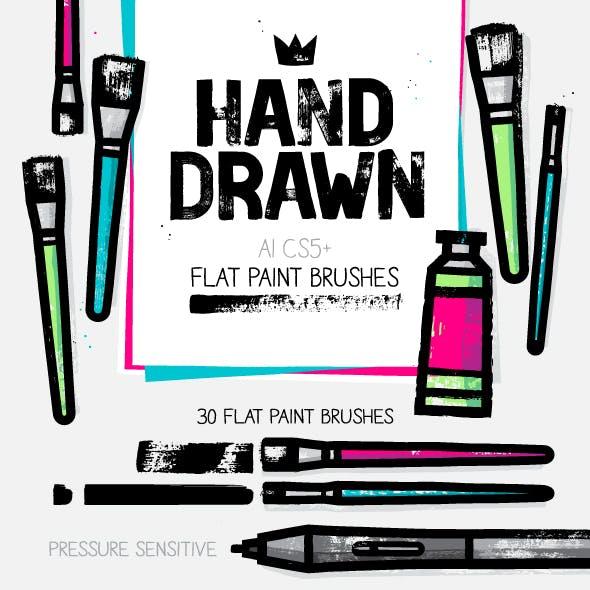 AI flat paint brushes
