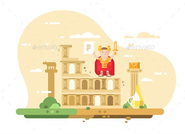 Rome City Skyline - Miscellaneous Vectors