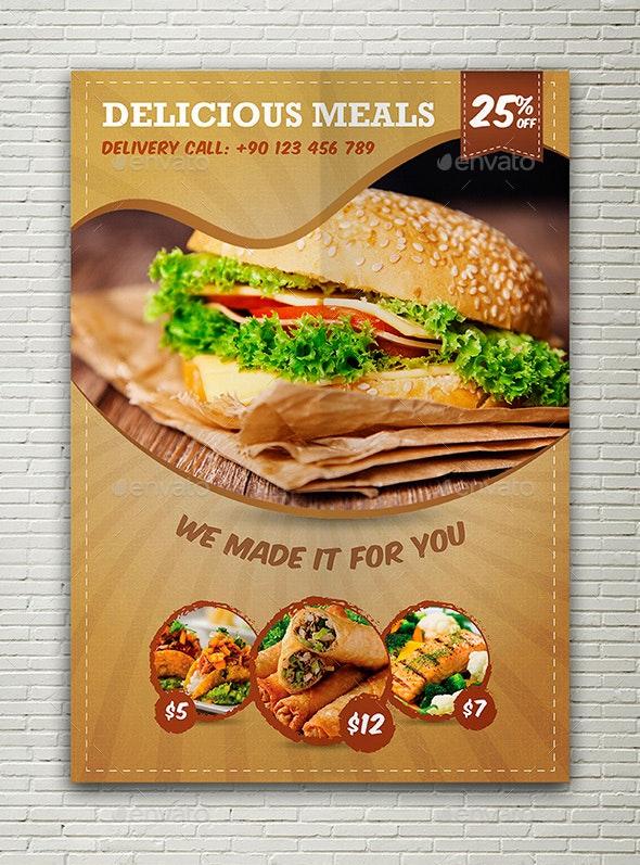 Restaurant Food Flyer - Restaurant Flyers