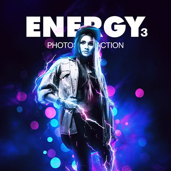 Energy 3 Photoshop Action