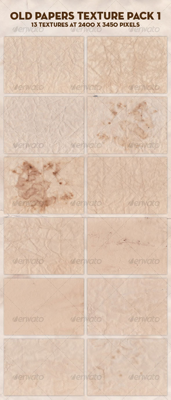 Old papers texture pack 1 - Paper Textures