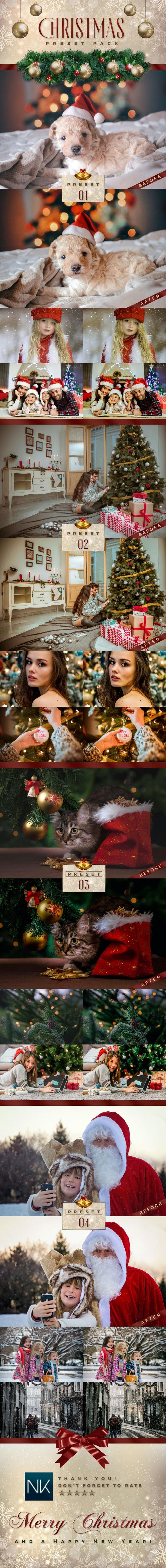 4 Lightroom Presets - Christmas Pack (+Mobile Version) - Lightroom Presets Add-ons