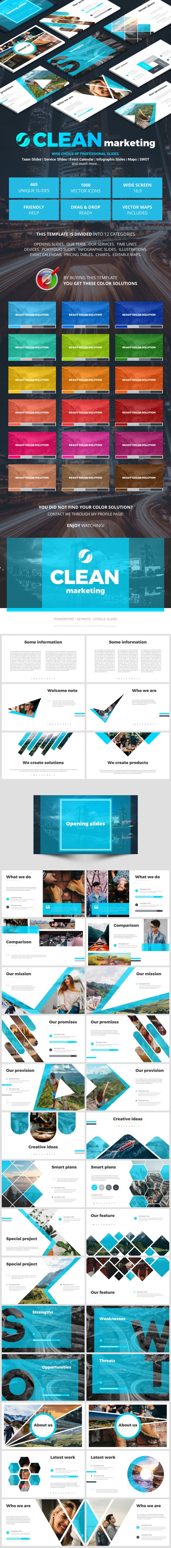 Clean Marketing - Business PowerPoint Templates