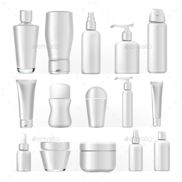 Cosmetic Bottles Set Vector
