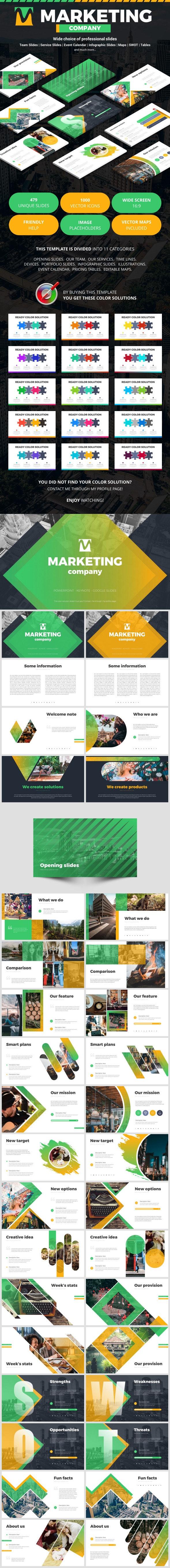 Marketing Company - Google Slides Presentation Templates