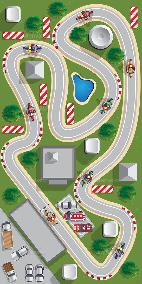 Motorcycle Racing - Sports/Activity Conceptual