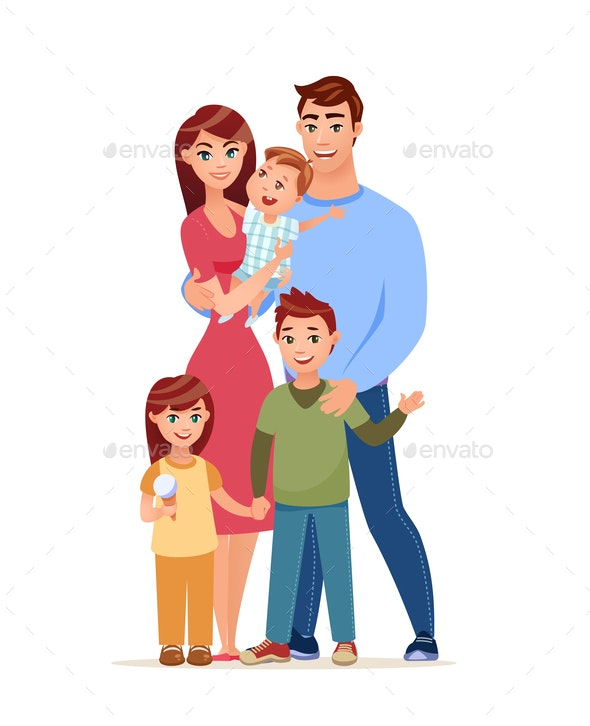 Family Cartoon Style - People Characters