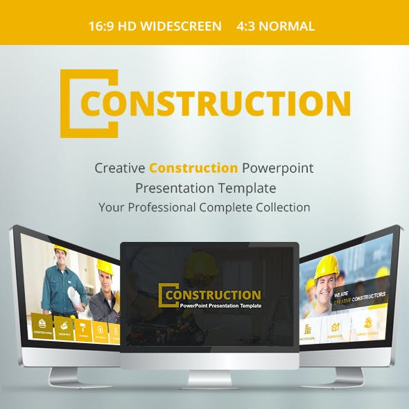 Construction PowerPoint Presentation Template