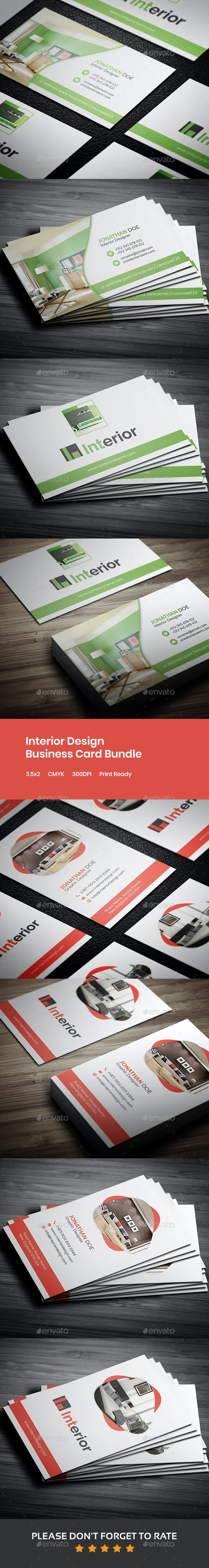 Interior Design Business Card Bundle - Industry Specific Business Cards